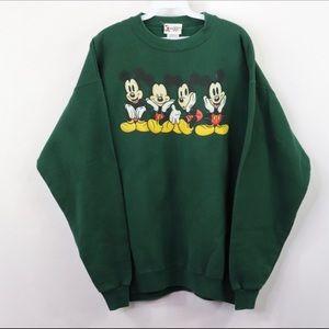 vintage disney mickey mouse crew neck sweatshirt